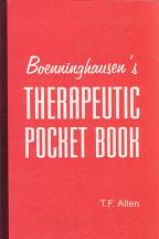 Allen, T F - Boenninghausen's Therapeutic Pocket Book