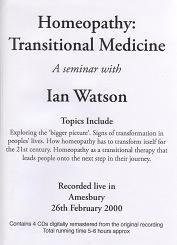 Watson, I - Homeopathy - Transitional Medicine