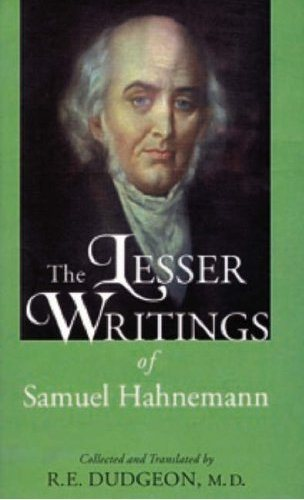 Dudgeon, R E - Lesser Writings of Samuel Hahnemann